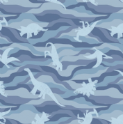Lewis & Irene - Kimmeridge Bay - 6222 - Dinosaurs in Blue - A305.1 - Cotton Fabric